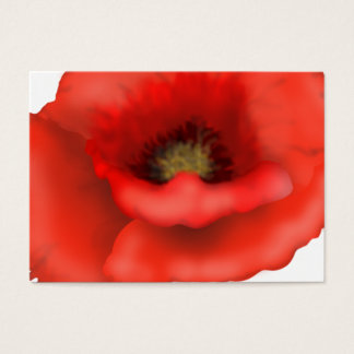 Cartão De Visitas Papoila vermelha