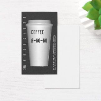 Cartão De Visitas Para ir copo Um-Ir-Vá