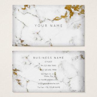 Cartão De Visitas Para o mármore cinzento branco dourado Vip de