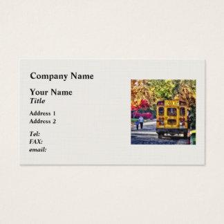 Cartão De Visitas Para trás do auto escolar