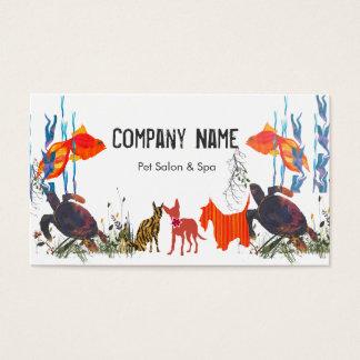 Cartão De Visitas Parada da nomeação dos cuidados dos animais de