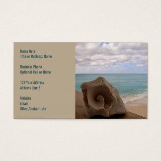 Cartão De Visitas Paraíso da praia do Seashell |