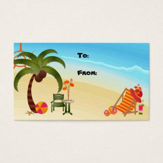Cartão De Visitas Paraíso tropical do Tag do presente