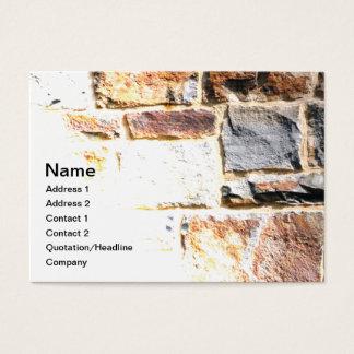 Cartão De Visitas parede de pedra