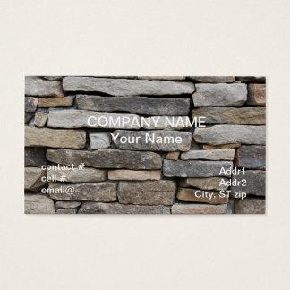 Cartão De Visitas parede de pedra empilhada