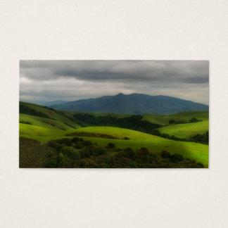 Cartão De Visitas Parque seco da angra com aproximação da tempestade