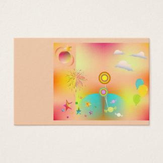 Cartão De Visitas partido e cores