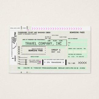 Cartão De Visitas Passagem de embarque customizável da linha aérea