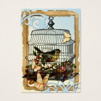 Cartão De Visitas Pássaro da gaiola
