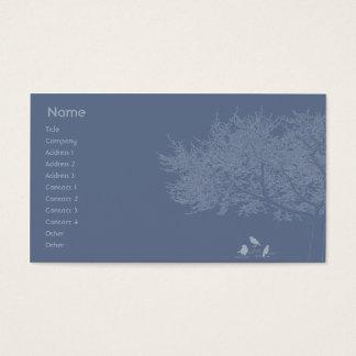 Cartão De Visitas Pássaros azuis - negócio