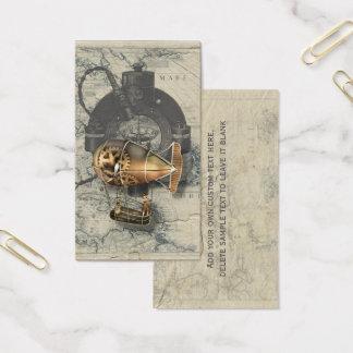 Cartão De Visitas Passeio do balão de Dirigible de Steampunk