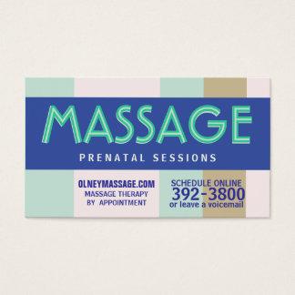 Cartão De Visitas pastel pré-natal da massagem 2012