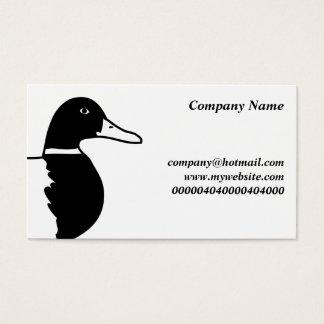Cartão De Visitas Pato selvagem,
