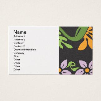 Cartão De Visitas pattern_paradise_found_jilbert.ai