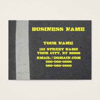 Cartão De Visitas Pavimentação do asfalto