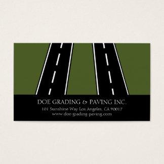 Cartão De Visitas Pavimentação formando estradas asfaltadas do
