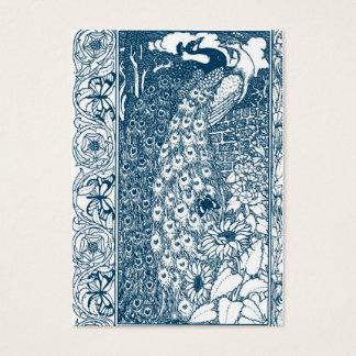 Cartão De Visitas Pavões de Nouveau da arte