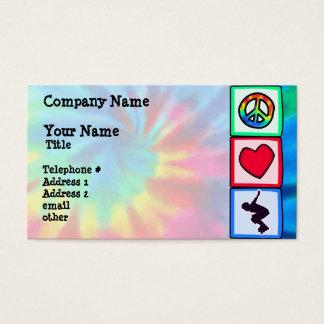 Cartão De Visitas Paz, amor, Rollerblading