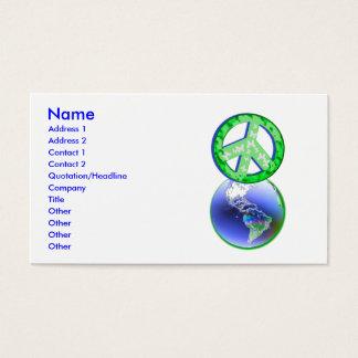 Cartão De Visitas Paz no Dia da Terra - negócio