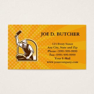 Cartão De Visitas Pé da faca de carniceiro do presunto retro