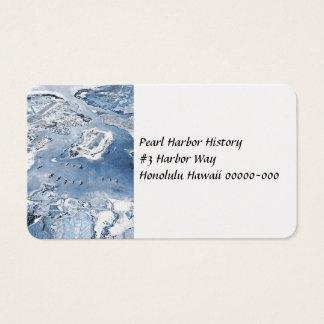Cartão De Visitas Pearl Harbor aéreo em direção ao sul da vista