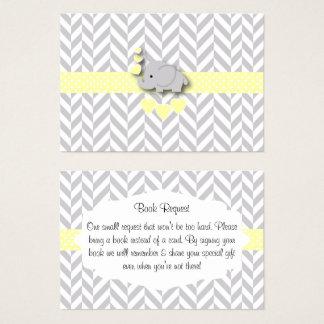 Cartão De Visitas Pedido amarelo e cinzento do livro do chá de
