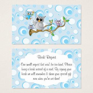 Cartão De Visitas Pedido bonito do livro do chá de fraldas das