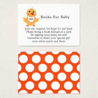 Cartão De Visitas Pedido bonito do livro do chá de fraldas do