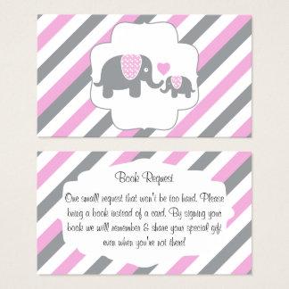 Cartão De Visitas Pedido branco, cor-de-rosa & cinzento do livro dos