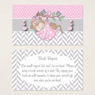 Cartão De Visitas Pedido cor-de-rosa, branco e cinzento do livro do
