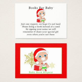 Cartão De Visitas Pedido do livro do chá de fraldas do papai noel do