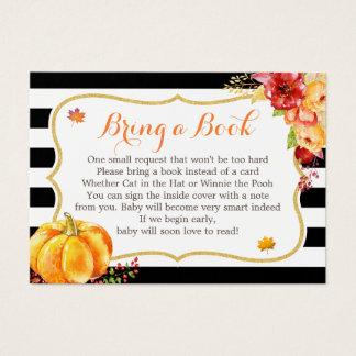Cartão De Visitas Pedido floral do livro do chá de fraldas da