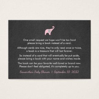 Cartão De Visitas Pedido/livros do livro do elefante cor-de-rosa