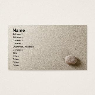Cartão De Visitas Pedra bege no fundo da areia