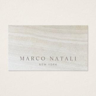 Cartão De Visitas Pedra de mármore bege elegante simples
