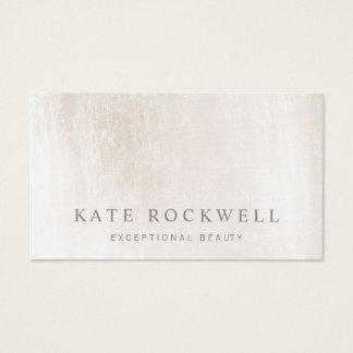 Cartão De Visitas Pedra minimalista chique do branco do marfim