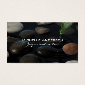 Cartão De Visitas Pedras na lagoa