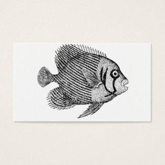 Cartão De Visitas Peixes com tipo fabuloso do Grunge