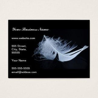 Cartão De Visitas Pena branca - angélico por natureza