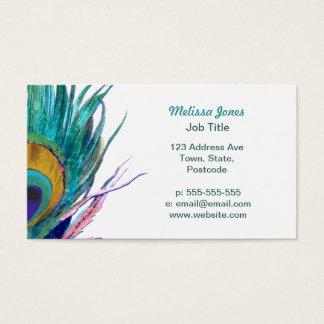 Cartão De Visitas Pena do pavão