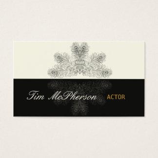 Cartão De Visitas Penas na moda do pavão do ator
