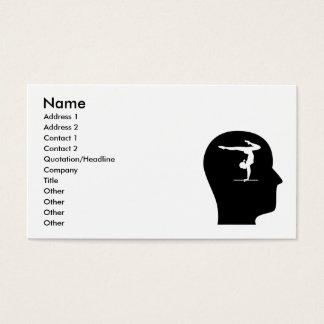 Cartão De Visitas Pensamento sobre a ginástica