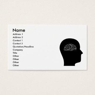 Cartão De Visitas Pensamento sobre a neurociência