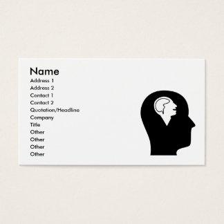 Cartão De Visitas Pensamento sobre a psicologia