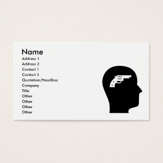 Cartão De Visitas Pensamento sobre armas