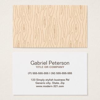 Cartão De Visitas Perfil de madeira abstrato moderno do profissional