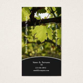 Cartão De Visitas Perfil do negócio da uva do vinhedo da adega