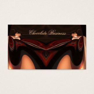 Cartão De Visitas Perfil elegante de Brown do creme do redemoinho do