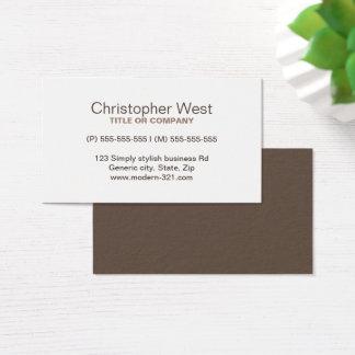 Cartão De Visitas Perfil profissional marrom à moda moderno