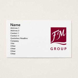 Cartão De Visitas Perfume do grupo de FM
